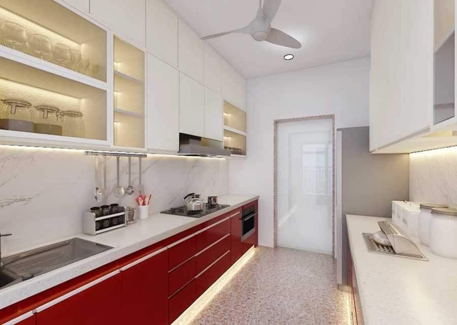 elegent white kitchen