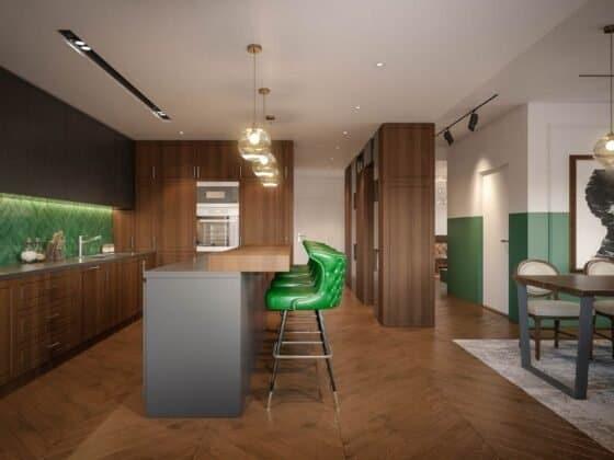 small studio-modular kitchen