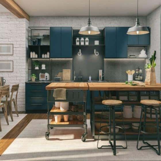 modular kitchen design and colour