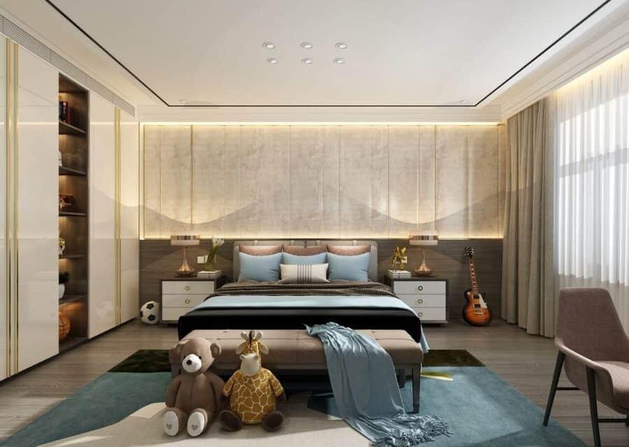 Mid-Century Modern bed room interiors
